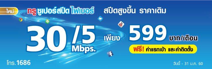 เน็ตทรู 30Mbps